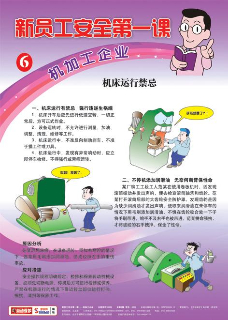 机加工企业-新员工安全第一课