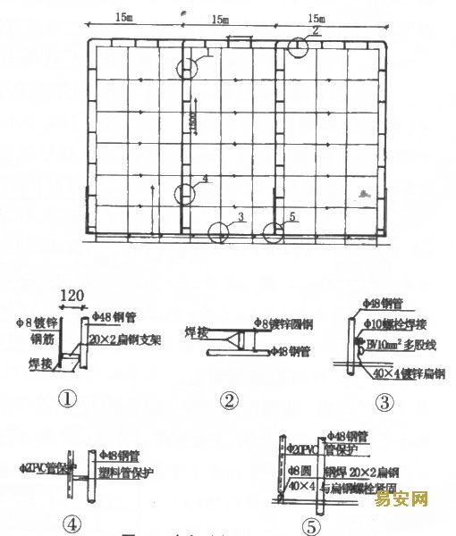 扣件钢管搭设外电v扣件架子三地143图纸期图片