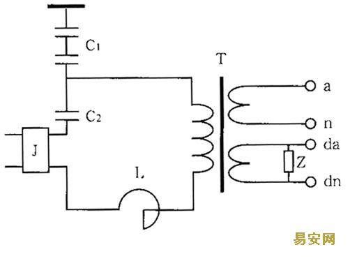 发现电磁式电压互感器二次阻尼绕阻丝的电木板表面因