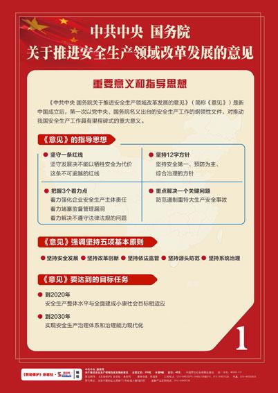 中共中央 国务院关于推进安全生产改革发展的意见6块