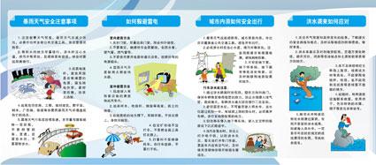 夏季灾害防范指南折页