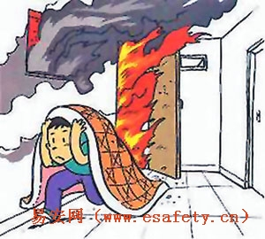 火灾改善漫画-家庭火灾的预防与扑救对策图片