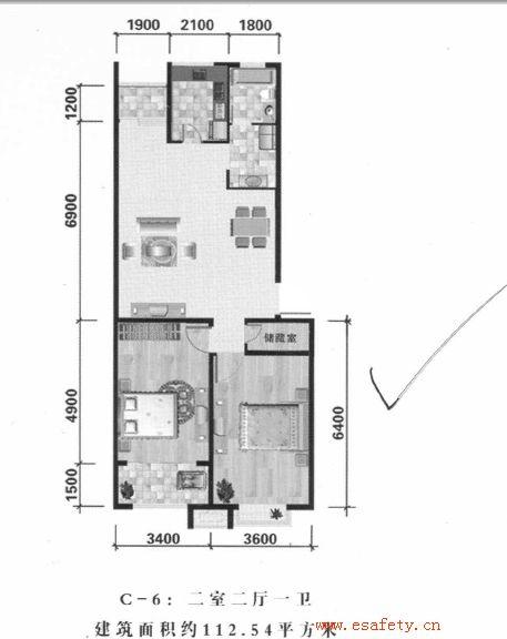 图一房屋结构及原始设计布局