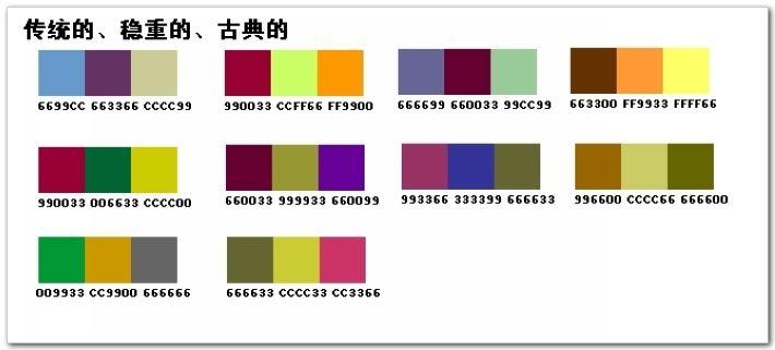 ppt配色方案图谱_制作ppt配色方案--自由空间的blog图片