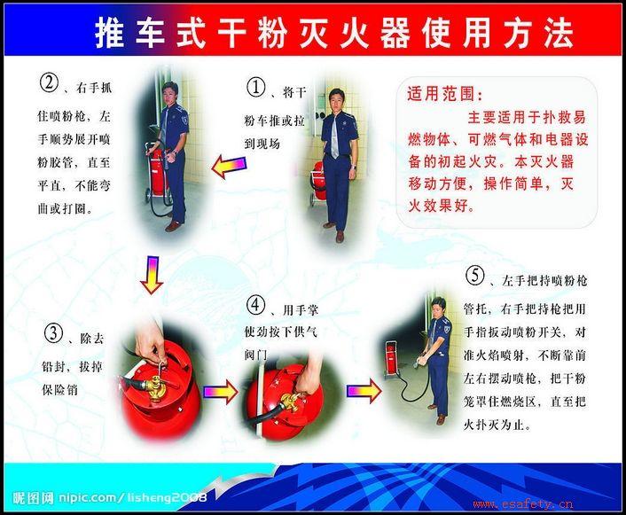 消防器材使用步骤图片