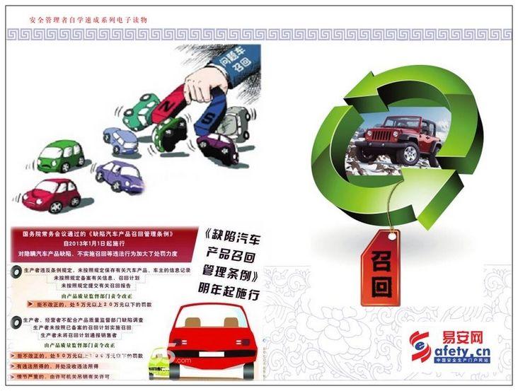 《缺陷汽车产品召回管理条例》介绍